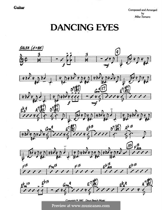 Dancing Eyes: parte Guitarra by Mike Tomaro