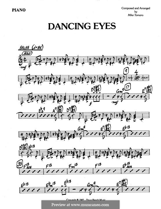 Dancing Eyes: parte piano by Mike Tomaro