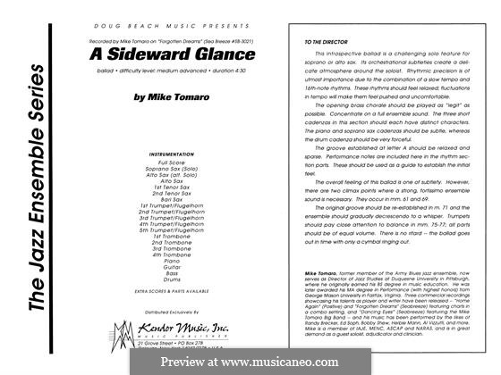 A Sideward Glance: partitura completa by Mike Tomaro