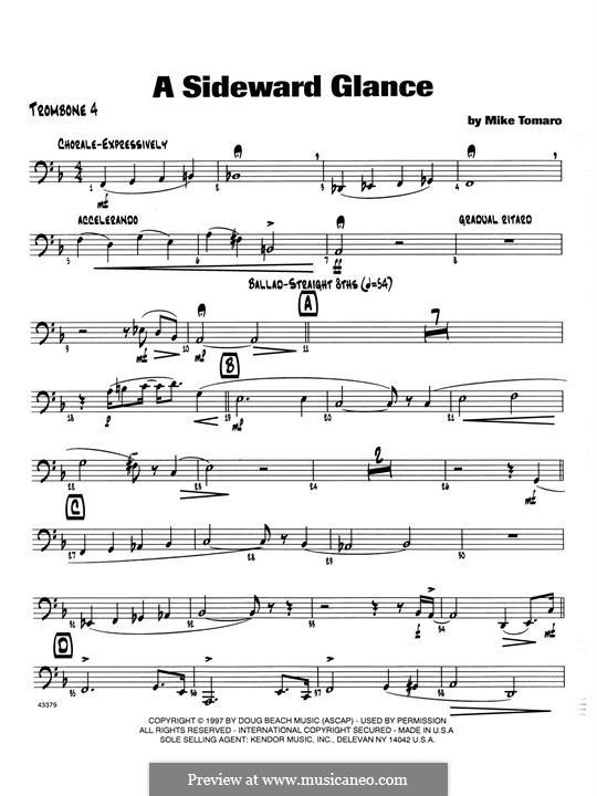 A Sideward Glance: 4th Trombone part by Mike Tomaro