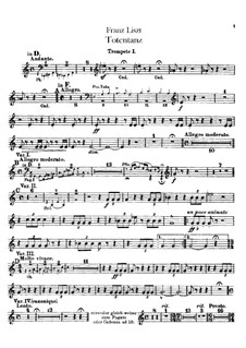 Dance of Death for Orchestra, S.126: trompeta partes I-II by Franz Liszt