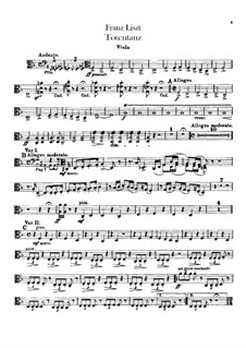 Dance of Death for Orchestra, S.126: parte viola by Franz Liszt