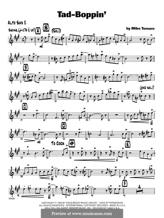 Tad-Boppin: Opt. Bass Clarinet part by Mike Tomaro