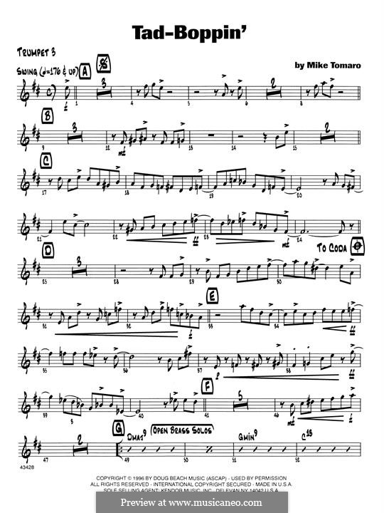 Tad-Boppin: 3rd Bb Trumpet part by Mike Tomaro