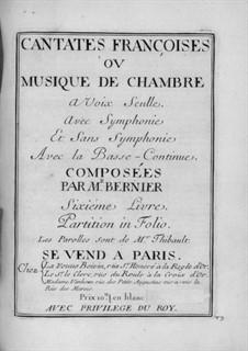 Cantates for Voice and Basso Continuo: livro VI by Nicolas Bernier
