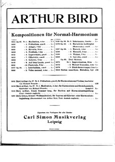 Ten Pieces for Harmonium, Op.37: Ten Pieces for Harmonium by Arthur Bird