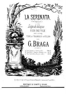 Angel's Serenade (Légende Valaque): For voice, cello (or violin) and piano (F Major) by Gaetano Braga