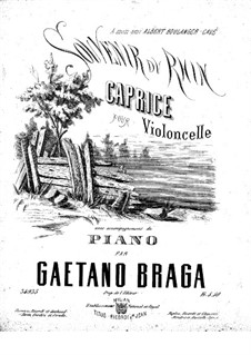 Souvenir du Rhin for Cello and Piano: Souvenir du Rhin for Cello and Piano by Gaetano Braga