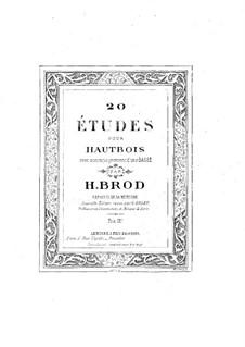 Twenty Etudes: Twenty Etudes by Henri Brod
