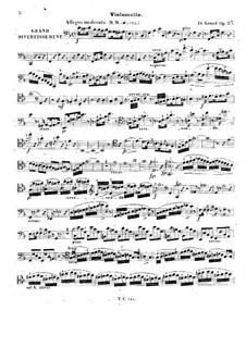 Grand Divertissement for Cello (or Violin, or Flute) and Piano Four Hands, Op.23: parte violoncelo by Friedrich Wilhelm Grund