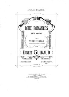Two Romances without Words for Cello and Piano: Romantica No.2 by Ernest Guiraud