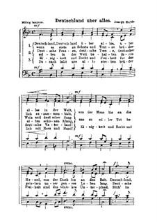 Deutschland über alles: Singpartitur by Joseph Haydn