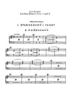 Lašské tance (Lachian Dances), JW 6/17: Dances No.1-2 – organ part by Leoš Janáček