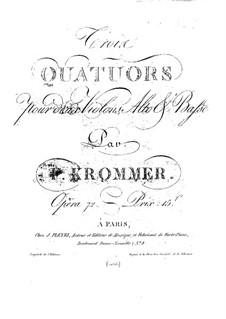 String Quartet in E Major, Op.72 No.2: String Quartet in E Major by Franz Krommer