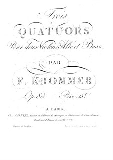 String Quartet in B Flat Major, Op.85 No.2: quarteto de cordas em B  by Franz Krommer