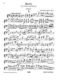 Suite for Violin and Piano, Op.43: Parte de solo by Josef Krug-Waldsee