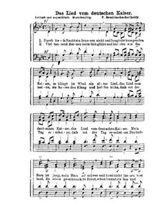 Das Lied vom deutschen Kaiser: Das Lied vom deutschen Kaiser by Felix Mendelssohn-Bartholdy