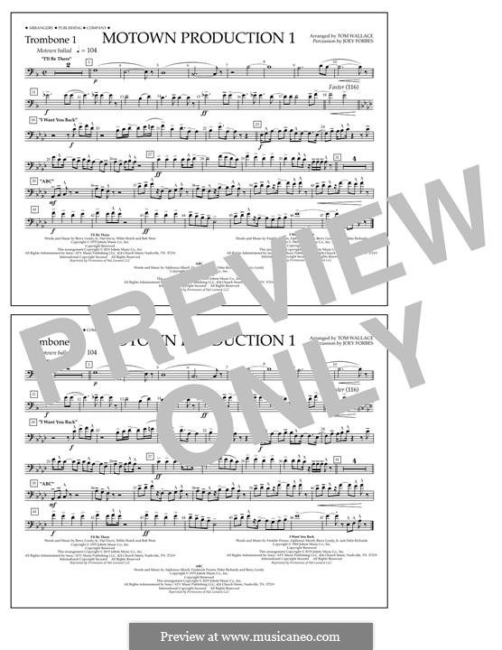 Motown Production 1: Trombone 1 part by Michael Jackson