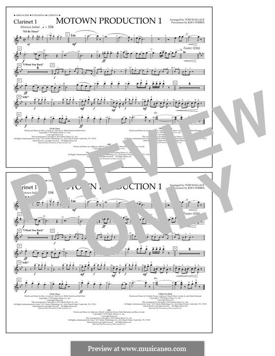 Motown Production 1: Clarinet 1 part by Michael Jackson