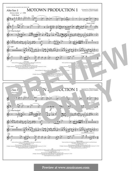 Motown Production 1: Alto Sax 1 part by Michael Jackson