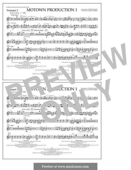 Motown Production 1: Trumpet 1 part by Michael Jackson