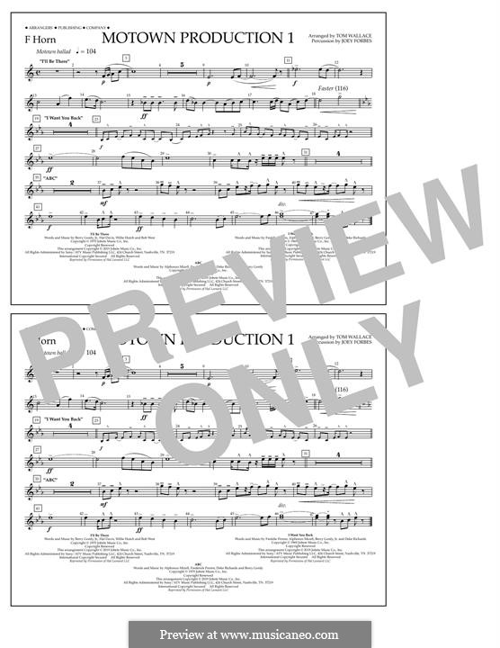 Motown Production 1: F Horn part by Michael Jackson