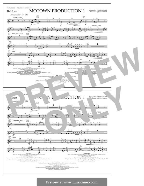 Motown Production 1: Bb Horn part by Michael Jackson