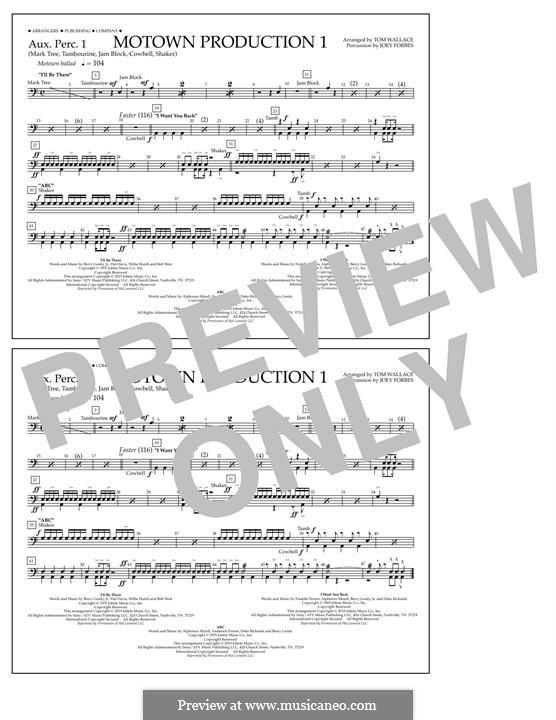 Motown Production 1: Aux. Perc. 1 part by Michael Jackson