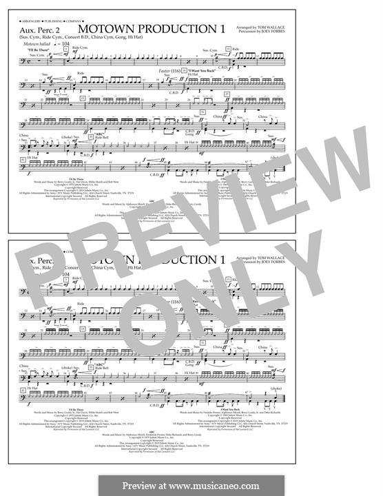Motown Production 1: Aux. Perc. 2 part by Michael Jackson