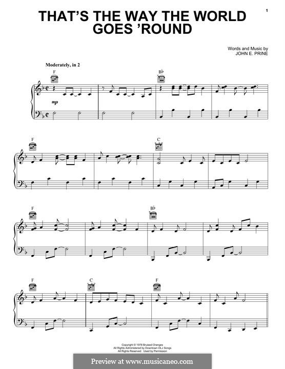 That's the Way the World Goes 'Round (Miranda Lambert): Para vocais e piano (ou Guitarra) by John Prine