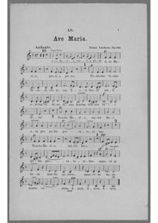 Ave Maria for Voice, Choir, Strings and Organ (or Harmonium), Op.162: Alto Part (Choir) by Franz Paul Lachner