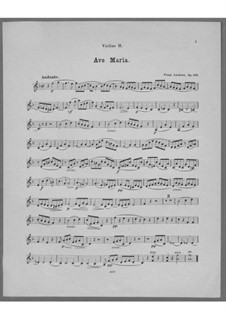 Ave Maria for Voice, Choir, Strings and Organ (or Harmonium), Op.162: violino parte II by Franz Paul Lachner