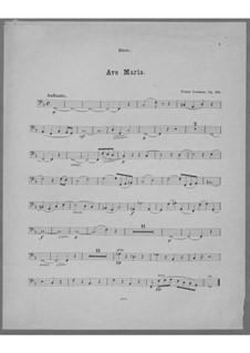 Ave Maria for Voice, Choir, Strings and Organ (or Harmonium), Op.162: Parte contrabaixo by Franz Paul Lachner