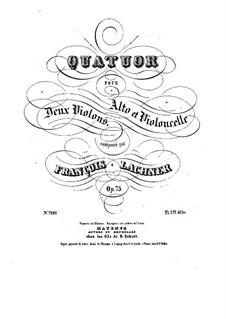 String Quartet No.1 in B Minor, Op.75: String Quartet No.1 in B Minor by Franz Paul Lachner