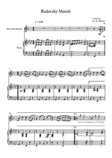 Radetzky March, Op.228: para alto saxofone e piano by Johann Strauss Sr.