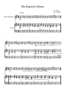 Austrian National Hymn, Hob.XXVIa/43: Para saxofone tenor e piano by Joseph Haydn