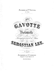 Gavotte for Cello and Piano, Op.117 No.4: partitura by Sebastian Lee
