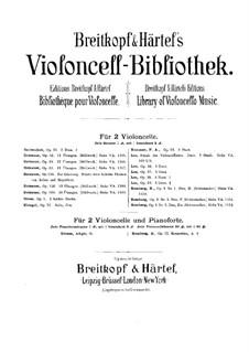 Three Duos for Two Cellos, Op.36: violoncelo parte II by Sebastian Lee
