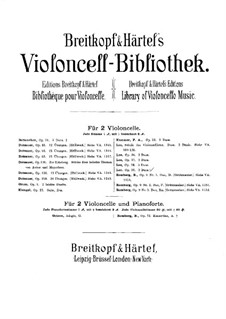 Three Duos for Two Cellos, Op.39: violoncelo parte I by Sebastian Lee