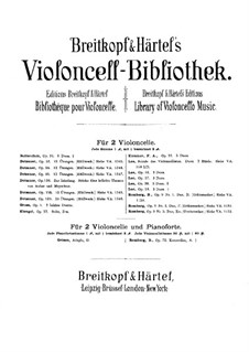 Three Duos for Two Cellos, Op.39: violoncelo parte II by Sebastian Lee