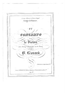 Concerto for Violin and Orchestra in E Major, Op.10 No.1: arranjo para violino e piano - parte solo by Hubert Léonard