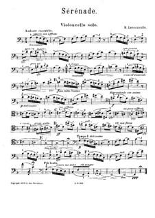 Serenade for Cello and Piano (or Harp): parte violoncelo by Ruggero Leoncavallo