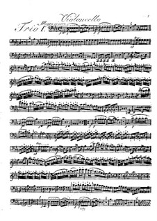Three String Trios, Op.17: parte violoncelo by Johann Georg Lickl