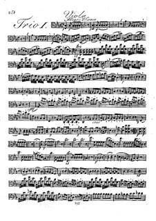 Three String Trios, Op.17: parte viola by Johann Georg Lickl