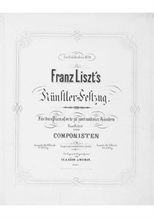 Artists' Procession for the Schiller Celebration, S.114: Partitura piano by Franz Liszt