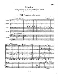 Requiem, S.12: réquiem by Franz Liszt