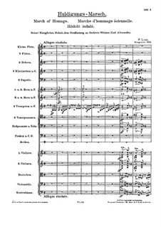 March of Homage, S.228: March of Homage by Franz Liszt