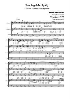 Lyric No.2 for St. Shio Mgvimeli, Op.3: Lyric No.2 for St. Shio Mgvimeli by Nino Janjgava