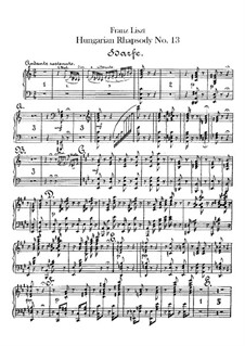 No.13 in A Minor, S.244: For orchestra – harp part by Franz Liszt