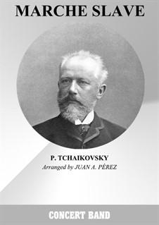 Slavonic March, TH 45 Op.31: partituras completas, partes by Pyotr Tchaikovsky